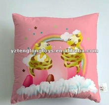 2012 New style 40*40cm soft stuffed snake printed plush cushion and pillow