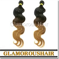 2014 Hot Sale Cheap Virgin Brazilian Body Wave Hair In Blonde And Brown Ombre Color Hair