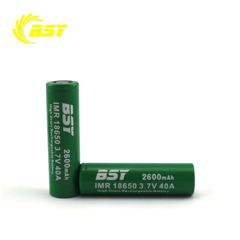 2018 Wholesale BSY Green 2600mAh rechargeable 3.7V lithium ion battery 10kwh