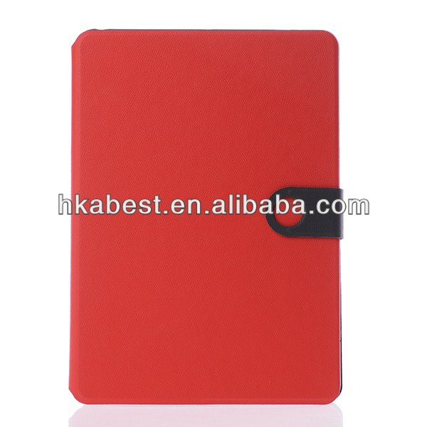 Book Style Leather Case Cover For Apple iPad Air,Two Tone Color Pebble Grain Leather Case For iPad Air