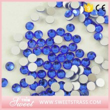 wholesale no hotfix sapphire cheap crystal flatback rhinestone