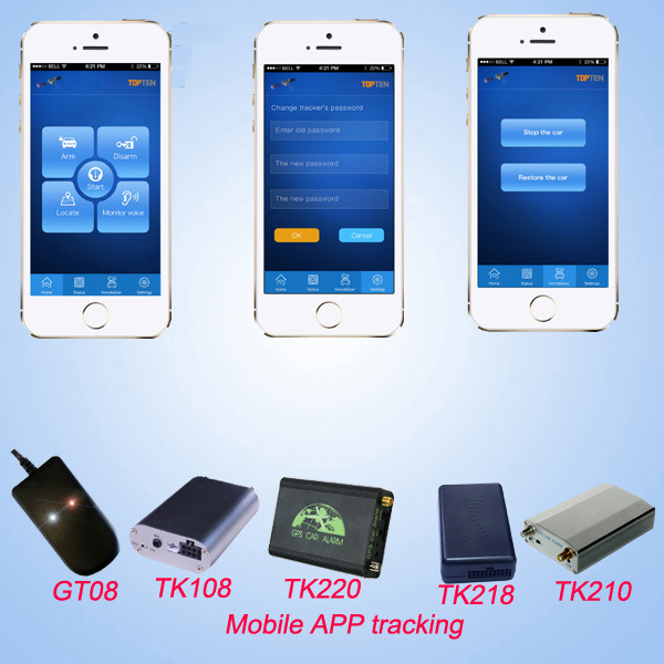 3G/4G obd2 GPS tracker with global website for mobile and computer tracking
