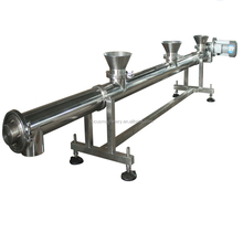 Horizontal screw conveyor with multi feed/ Auger feeder