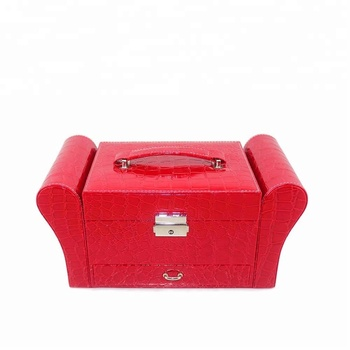 chinese rose pink premium sublimation custom packaging couch sofa shaped jewelry box oem