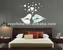 2012 hot sale acrylic/ps removable mirror sticker