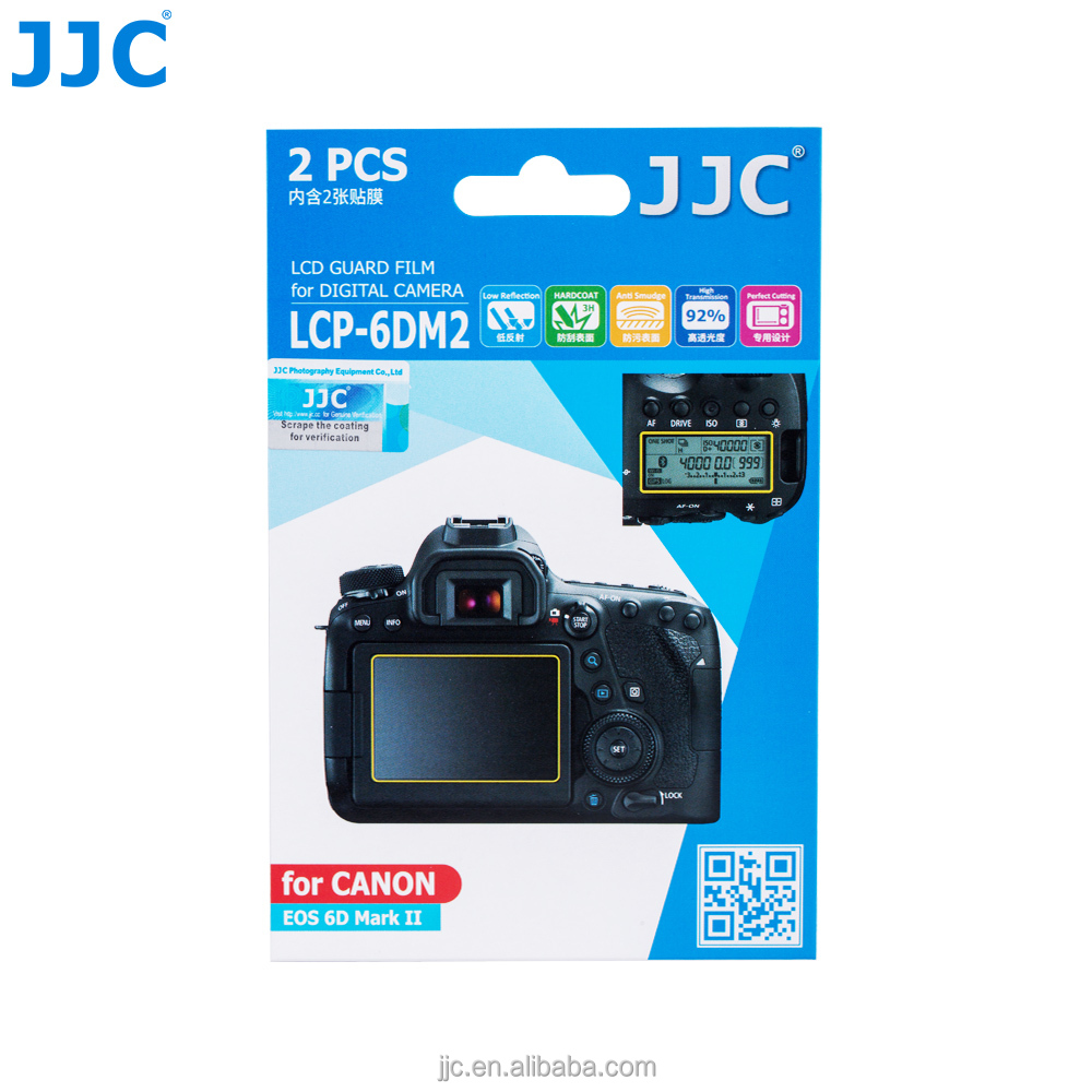 JJC LCP-6DM2 PET Guard Film LCD Screen Protector for Canon EOS 6D Mark II / 6DM2 / 6D2 Camera