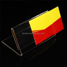 L shape acrylic business card stand