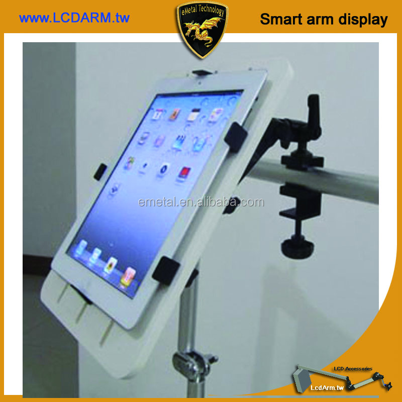 Phone Holder Clamp Pipe Pole Device for iPad mini air iPhone Tablet Touch pad PC