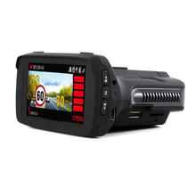 New Arrival Russia Full HD 3 in 1 Combo high quality radar detector car dvr/camera with GPS