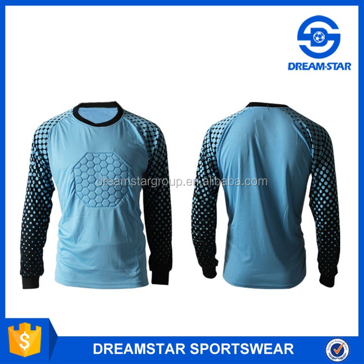2017 Kids Hot Design Football Goal Keeper Jersey With Soccer Long Sleeves