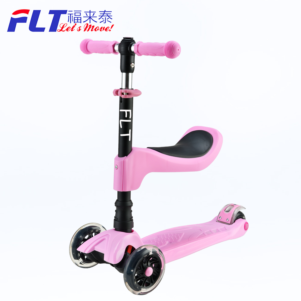 4 Wheels Style Mini T-Bar Scooters Tilt Kick Scooter with LED Wheels