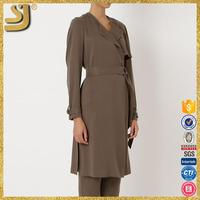 SHANGYI 2015 wowoman coat, italian leather coats, 2014 wowoman fashion trench coat