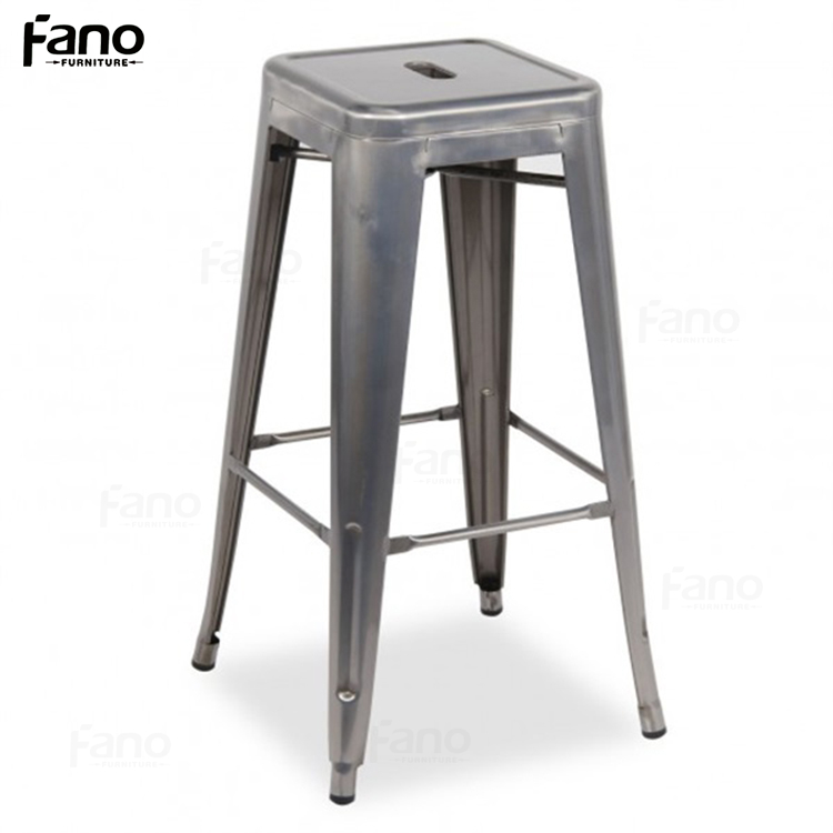 retro industrial iron barstool metal frame