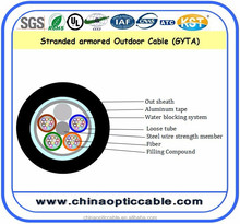 Factory Price GYTA G652d Aluminum Corrugated Tube 8 Core Fibre Optics Cable