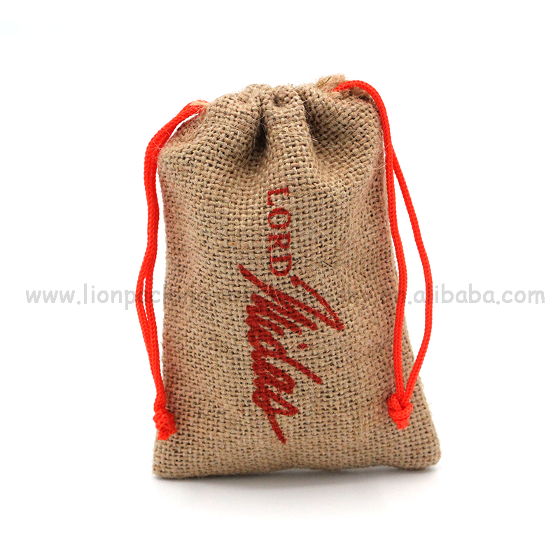 Marketing gift packaging small hessian bags