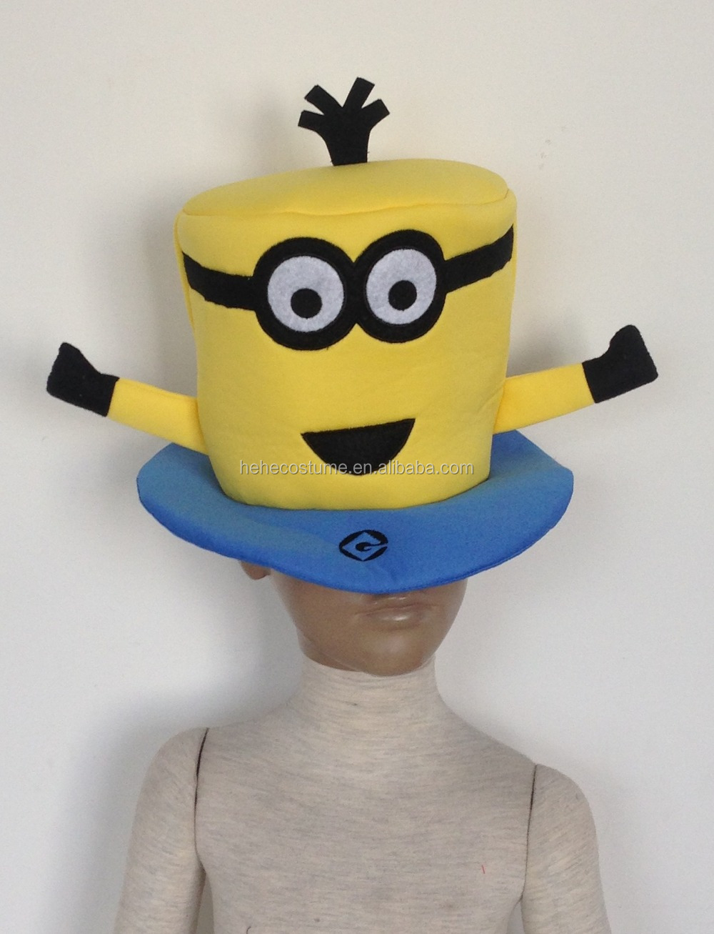 cute yellow minion hat , yellow minion party hat,minion hat for party