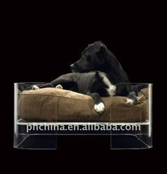 PE-233 Square Clear Acrylic Pet Bed,Lucite Plastic God Bed