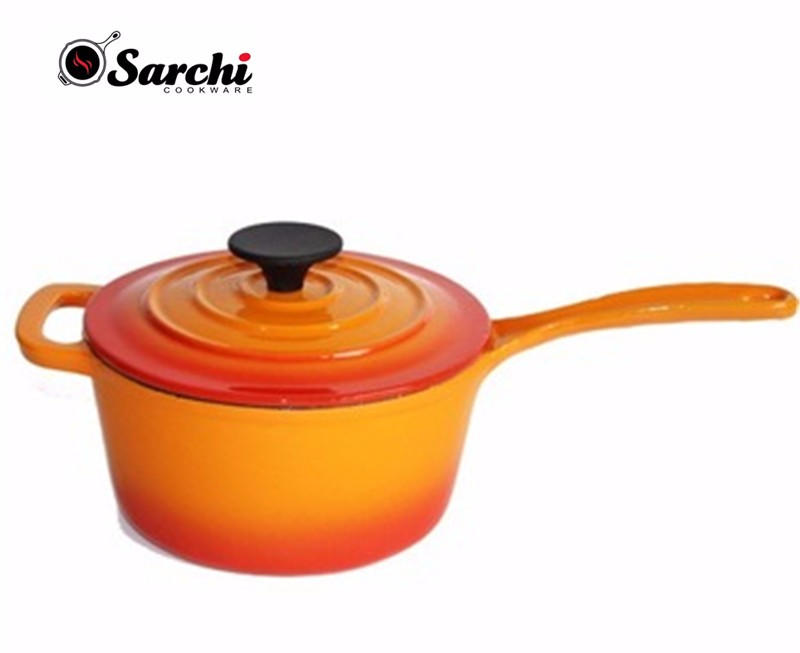 Cast Iron enamel sauce pans with loop handle