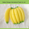 Promotional cute banana pattern pvc plastic coin purse for girls