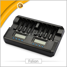 8 slot universal nimh batteries chargers 1.2v nimh nicd aa/aaa battery charger with lcd