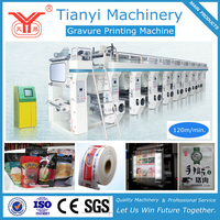 High Quality Reliable Plastic Film Gravure Printing Machine /Plastic Film Rotogravure Printing Machine