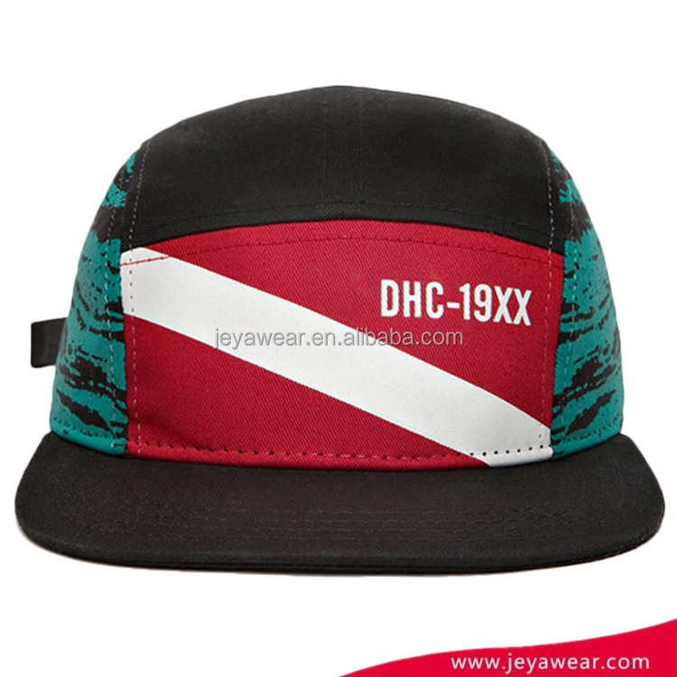 Hip Pop Sports Caps Fashion Custom Colorful 5 Panel Printed Cap Snapback Cap Hat