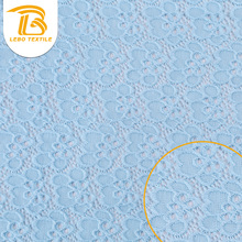 High-quality Plain pale delicate blue Lace Knit fabric for home textile