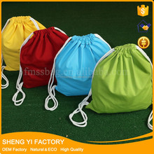 Promotion Natural White Color Cotton Canvas Drawstring Bag For Gift Candy Etc