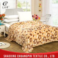 Home textile China factory hot sale washable 100% polyester printed coral fleece blanket flannel blanket