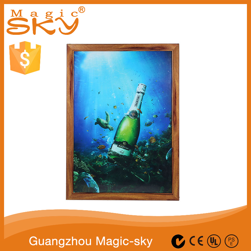 China supplier wholesale LED aluminum wooden photo picture frame