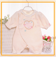 korean style designer new born 100% cotton baby romper and sleep suits