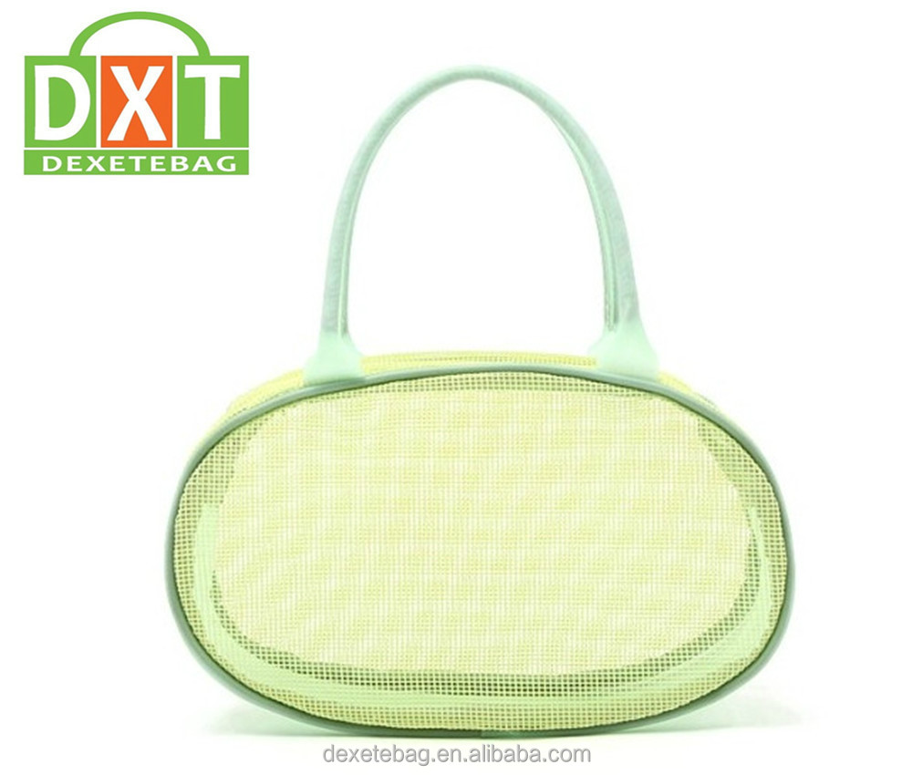 Truely beauty cosmetic bag,big cosmetic bag,large cosmetic bag.With PVC mesh and chromed handle&locks.Fashional design