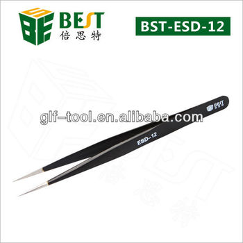 BEST- ESD Discounting Antistatic Tweezers for Repairing