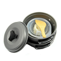 Black portable camping cookware,Hiking backpacking camping cookware mess kit