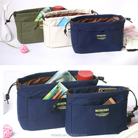 Protable Canvas bag Cosmetic Bags Makeup Organizer Case