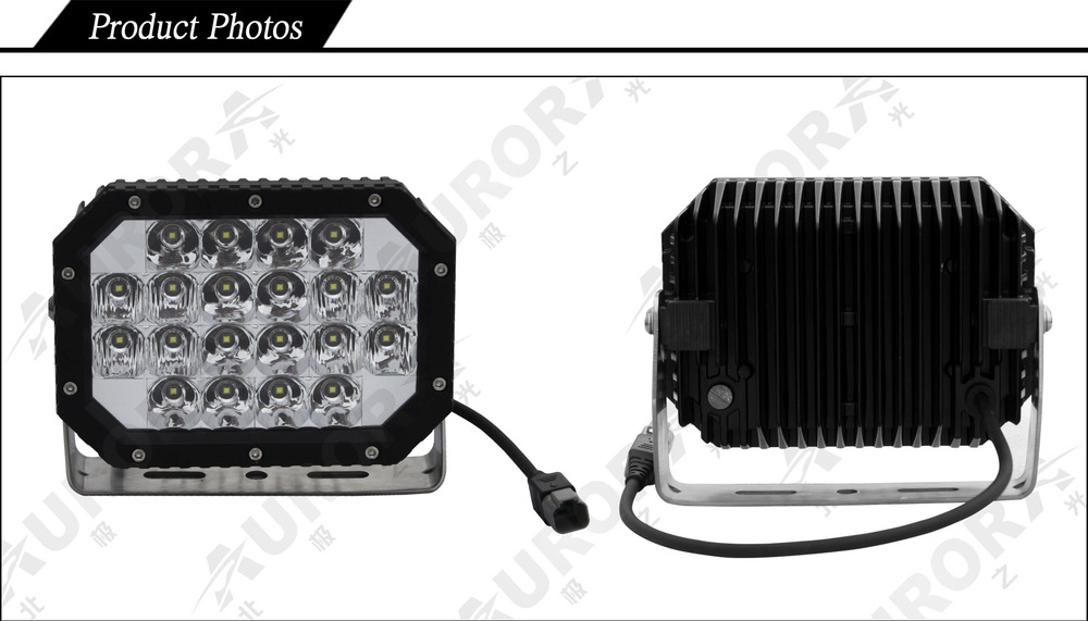 Super Bright IP69K Led 6'' Truck 4X4 Quad Round Light