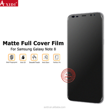 2017 new trend products Ultra thin Full Cover TPU anti-glare soft film for Sam sung note 8 screen protector