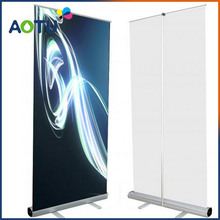 promotional standing scrolling roll up banner stand