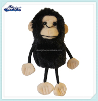Factory audited plush animal toy mini Chimp Finger Puppet