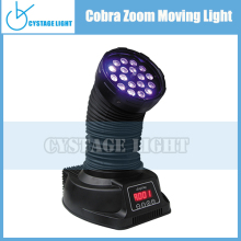 guangzhou wholesale18 x 3W RGB 3 in 1 Cobra LED Zoom Moving Head