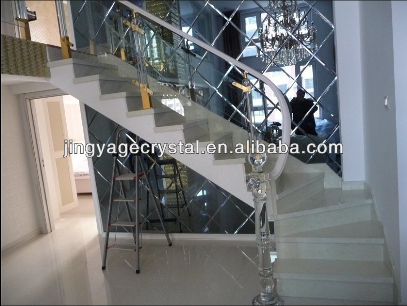 crystal interior stairs railing designs