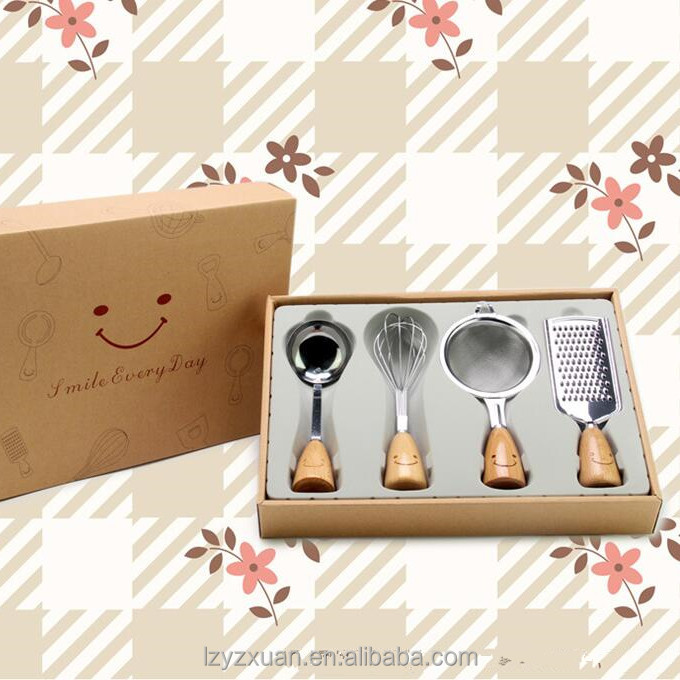 Best selling Chinese products hot selling stainless steel utensil gift sets with fancy box