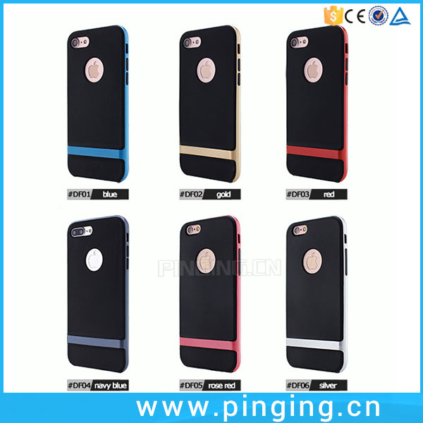 2017 Hot Amazon Product Mobile Covers For iPhone 6,Double Color PC + TPU Rock Phone Case For iPhone 6 6 Plus 7 7Plus