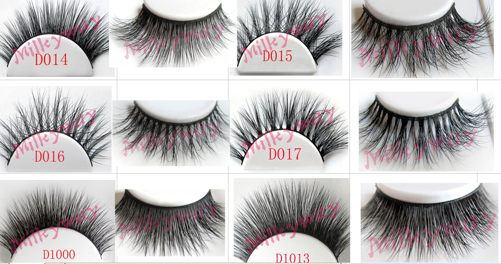 100% handmade Mink Eyelashes mink lashes with private label custom package