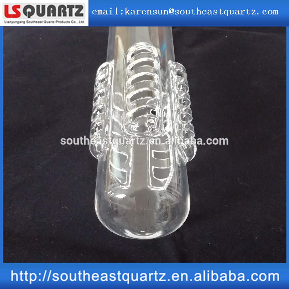 High purity quartz glass burner tube for furnace with competitive price