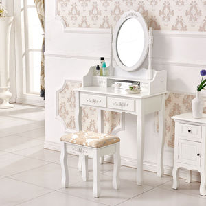 2017 New Design French Mirror Movable Modern Dressing Table