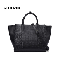 Tote Manufacturers In China Quality Leather Ladies Purses Pattern New Thailand Designers Lady Genuine Leather Handbags Crocodile