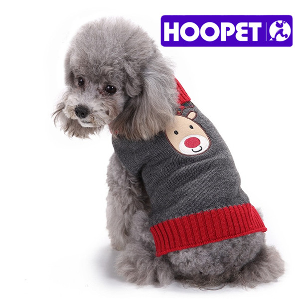 Pet Apparel New Year Warm Elk Kintted Cotton Pet Dog Sweater