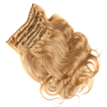 Factory wholesale price high quality blonde curly hair extensions clip ins