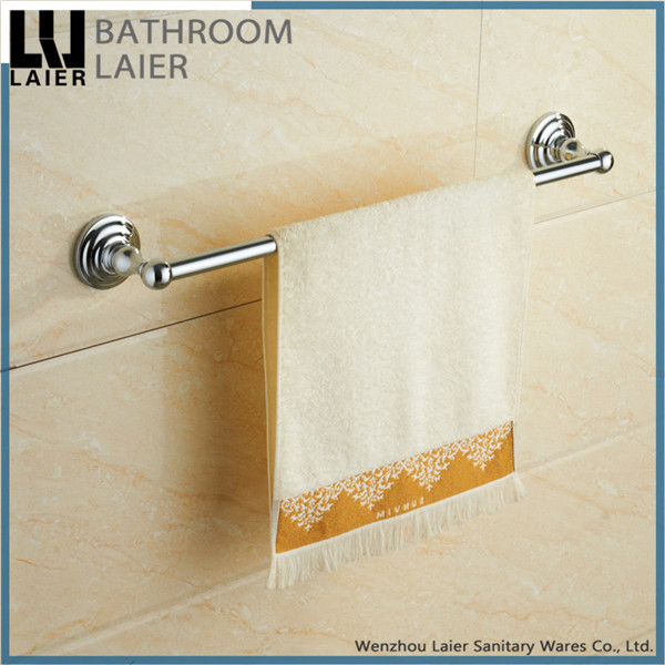 Grooming From India Zinc Alloy Chrome Finishing Bathroom Sanitary Items Wall Mounted Single Towel Bar